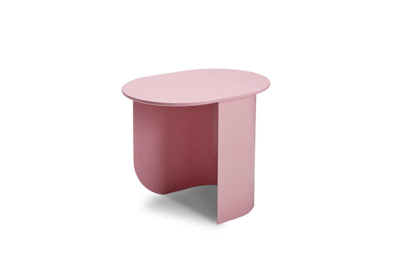 Plateau Sidetable Pink Sidefront