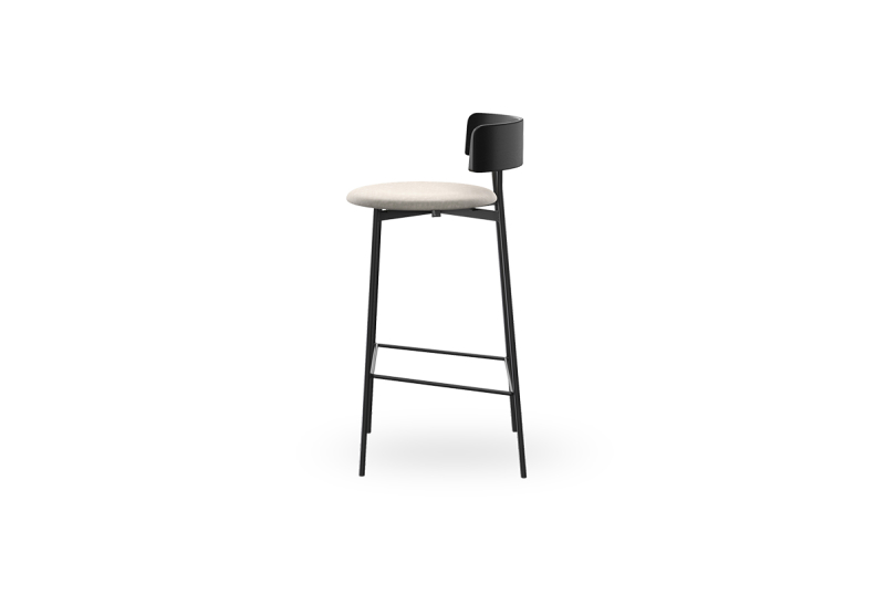 Fri Barstool Black Adore 01 Natural zijkant