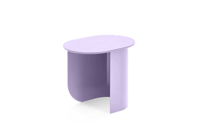Plateau Sidetable Lilac Sidefront