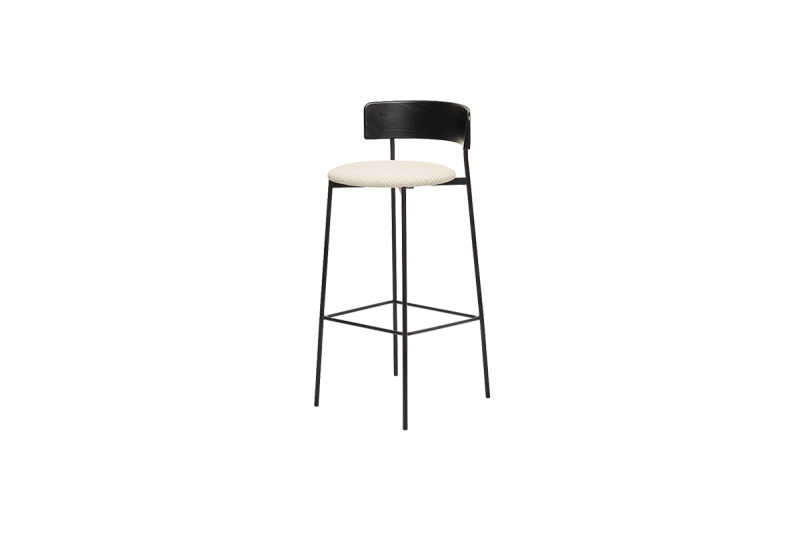 FEST friday bar stool black back coda 2 103 sidefront