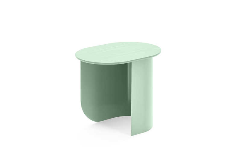 Plateau Sidetable Green Sidefront