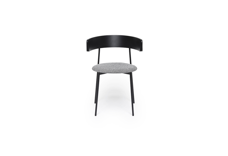 FEST friday dining chair with arms black back hallingdal 126 front