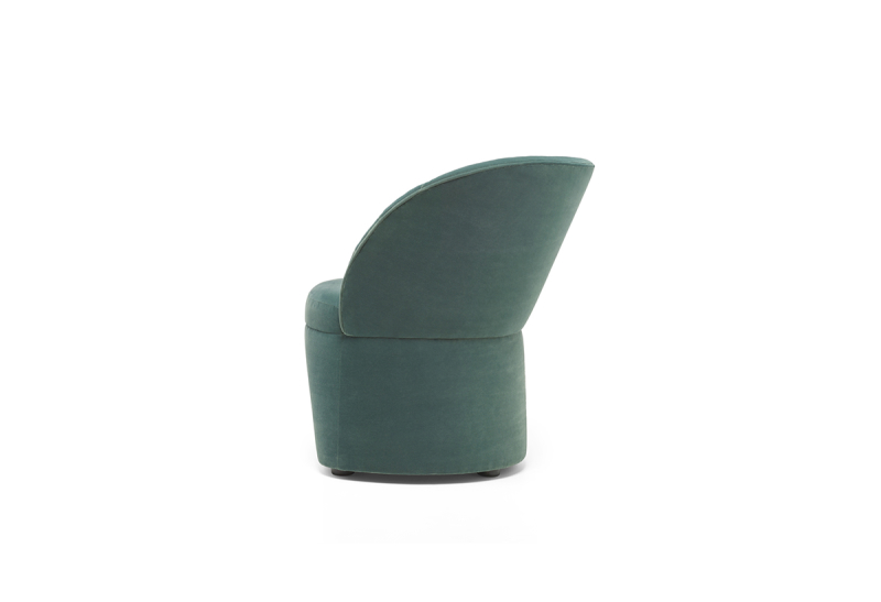 FEST phoebe lounge chair royal turquoise side
