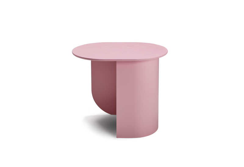 Plateau Sidetable Pink Front