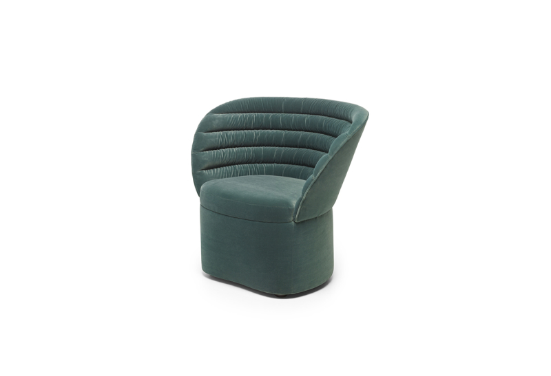 FEST phoebe lounge chair royal turquoise sidefront