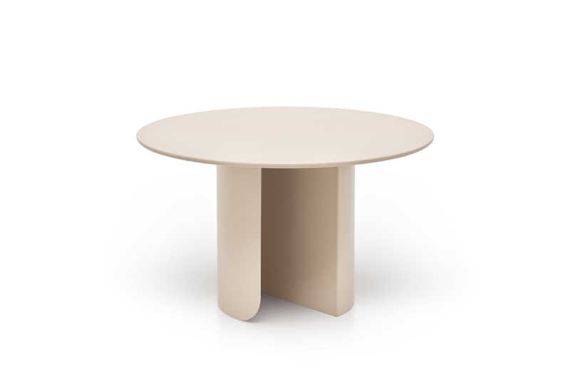 Plateau dining round sand front