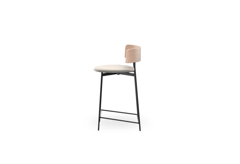Fri Counterstool Nat Adore 01 Natural zijkant