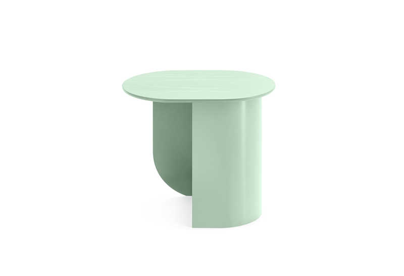 Plateau Sidetable Mint Green Side