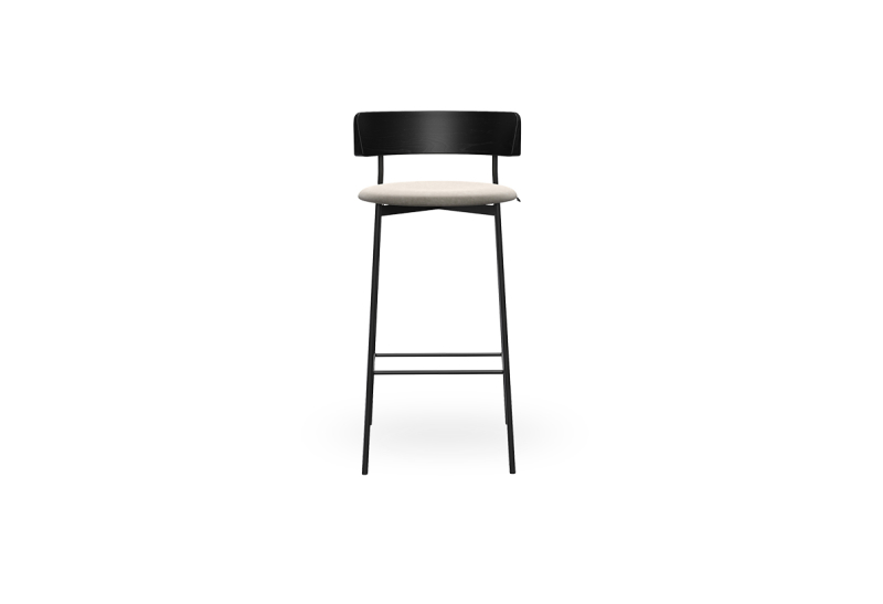 Fri Barstool Black Adore 01 Natural voorzijde