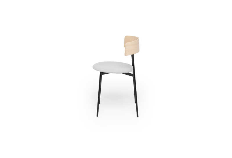 FEST friday dining chair no arms natural board zinc side