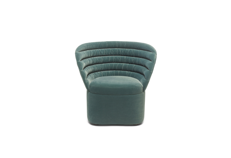 FEST phoebe lounge chair royal turquoise front