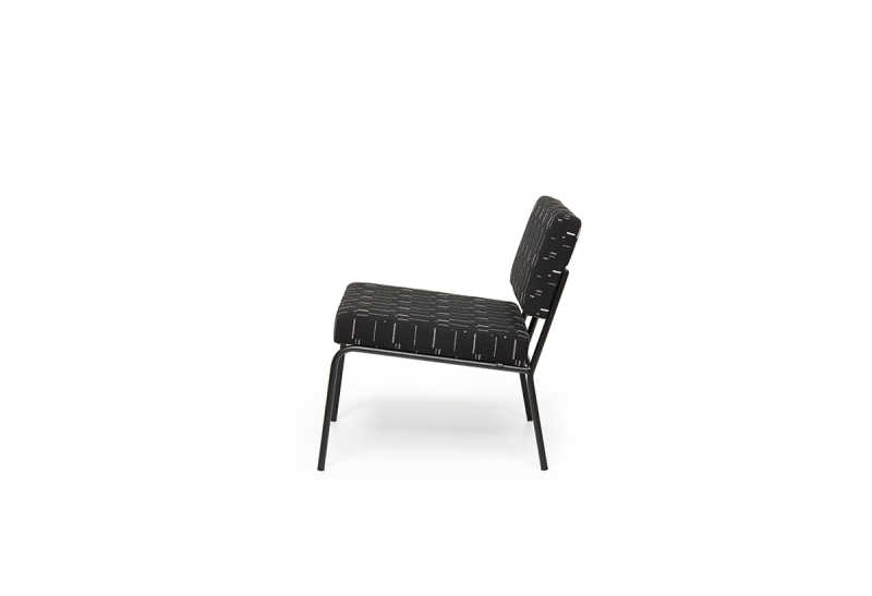 FEST monday lounge chair mode black side