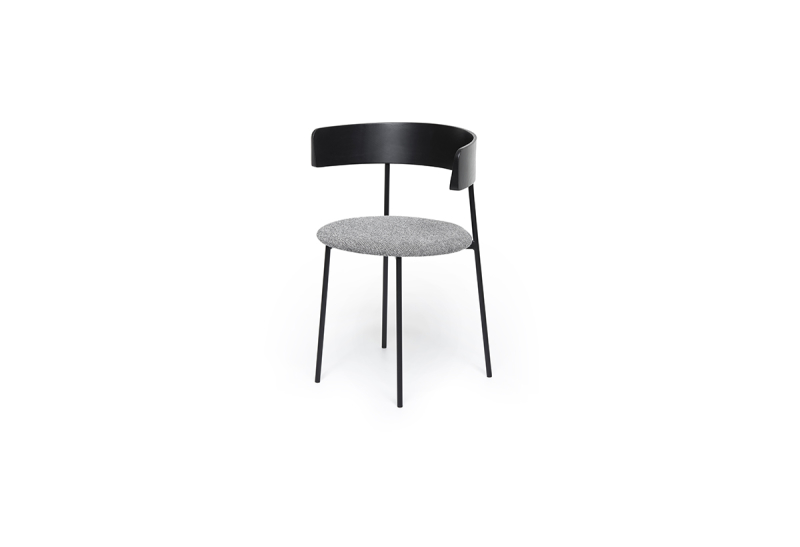 FEST friday dining chair with arms black back hallingdal 126 sidefront