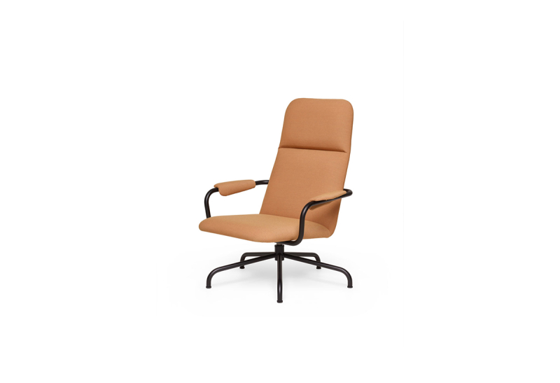 FEST hopper lounge chair steelcut trio 3 436 sidefront