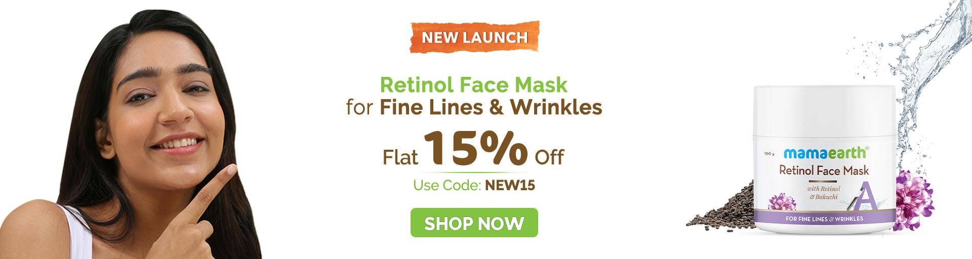 Retinol face mask