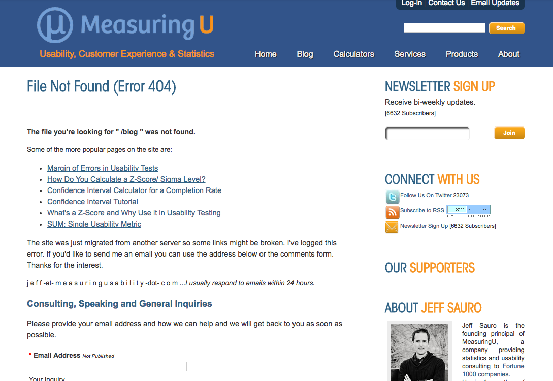 Measuring U blog
