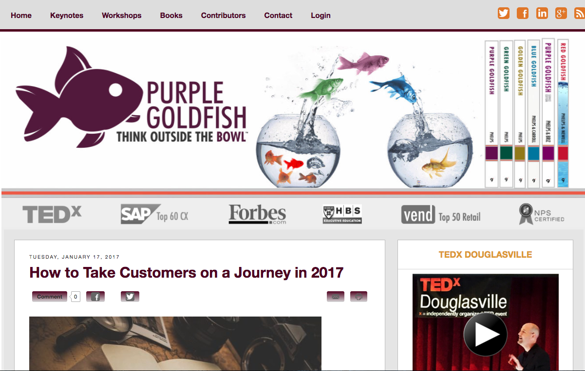 Purple Goldfish blog