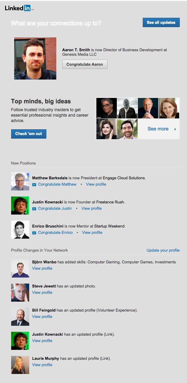 LinkedIn Digest Email