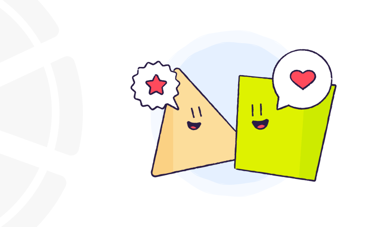 two character shapes talking and listening