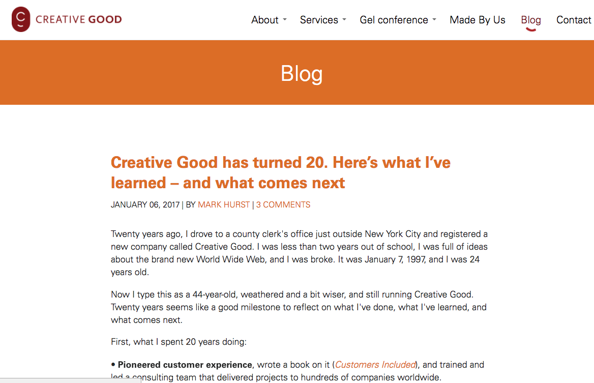 creative good blog
