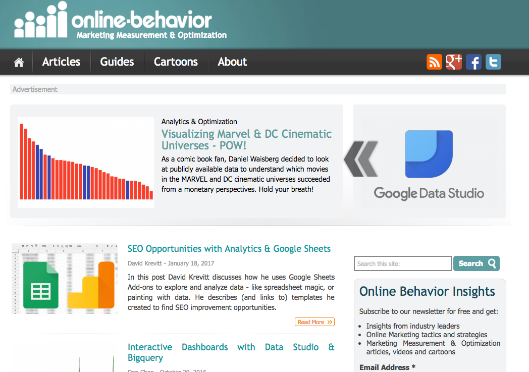 online behaviour blog