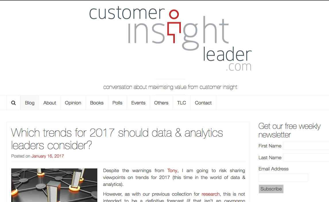 customer insight leader blog