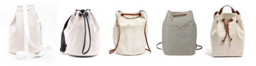 bucket bag inspiration - natural canvas with contrast straps