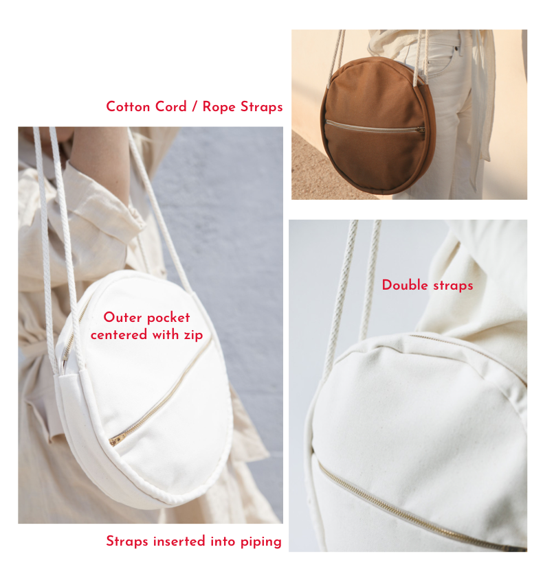 All Well - Full Moon Bag - RTW Design Detail Inspiration - rope straps - double straps - centered zip