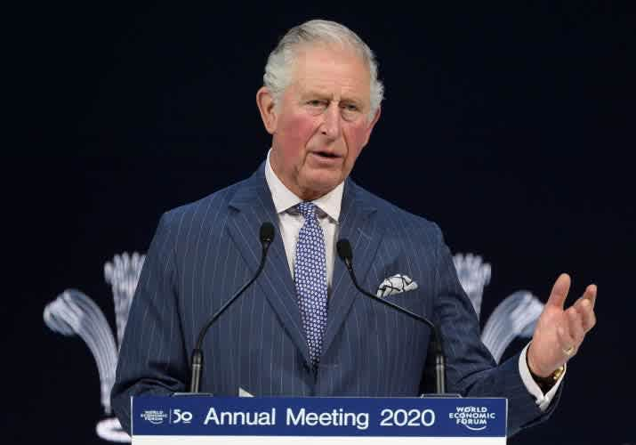 HRH delivers a speech at the World Economic