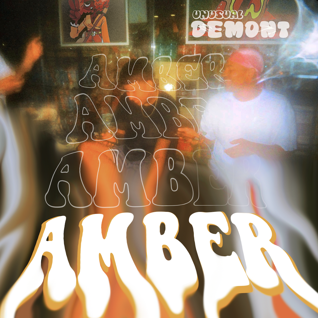 cover art for Unusual Demont's debut single, Amber