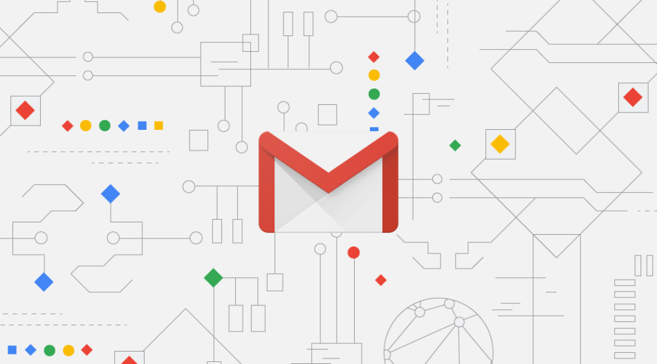 A picture showing the official Gmail logotype