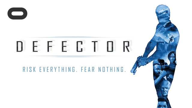 A splash image of a trailer for the VR-game Defector