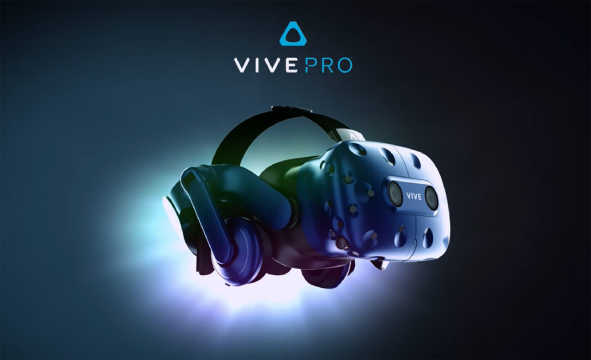An picture of the VR headset Vive Pro from HTC