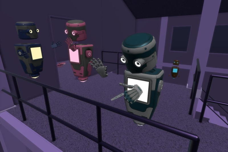 A screenshot from the VR chat application Hubs by Mozilla
