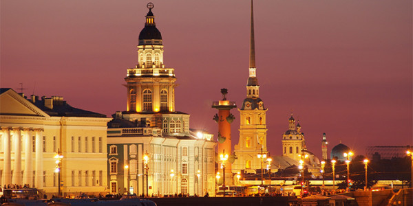 St Petersburg Peter Paul Cathedral Night Alamy RM 700x350 tcm21-120103