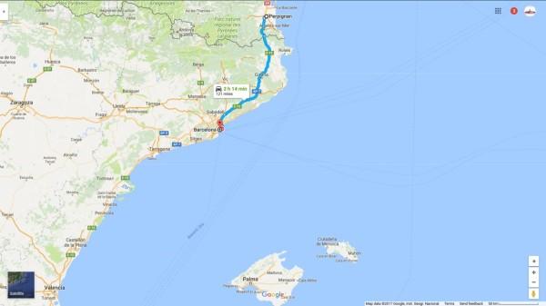 Map Leg Barcelona
