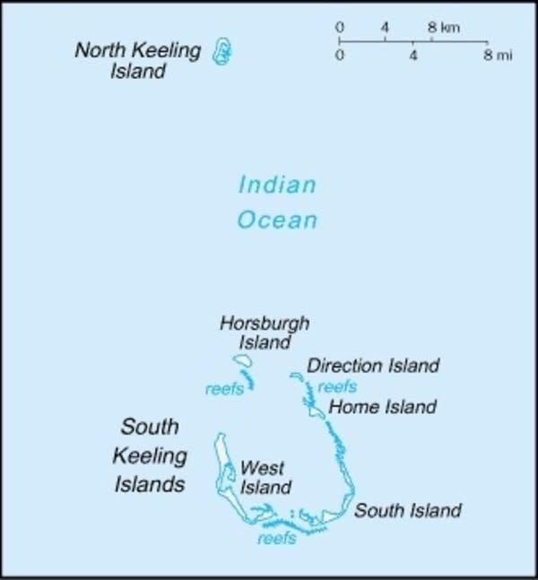 Cocos (Keeling) Islands Map