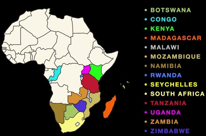 African Safari Travel Insurance Map