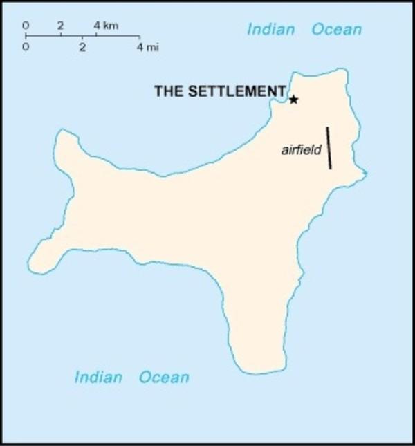 Christmas Island Map