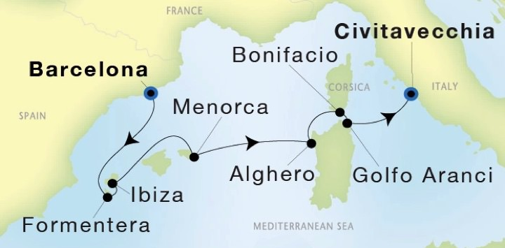 SeaDream Yacht Club Destination Map