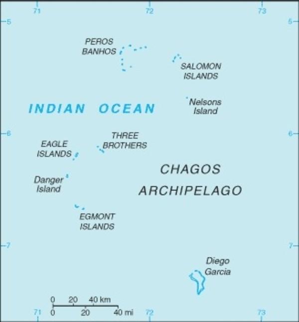 British Indian Ocean Territory Map
