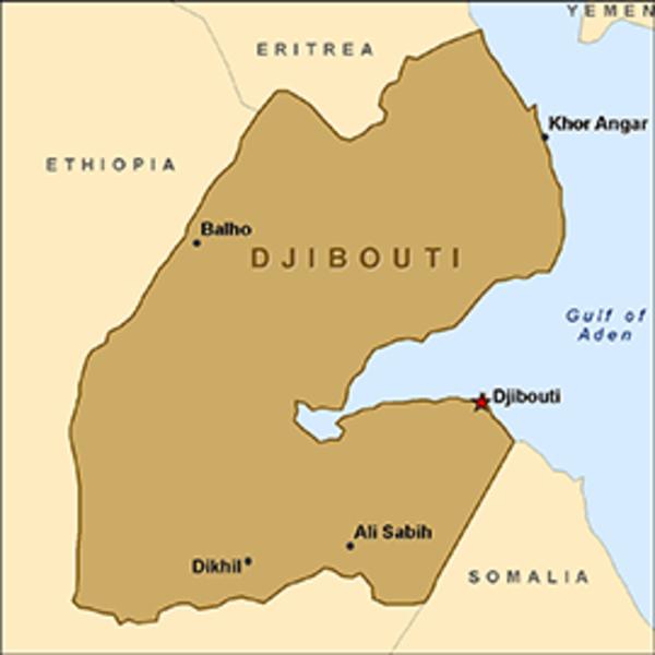 Djibouti Map