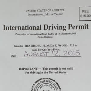 International Driving Permit - 2020 Review