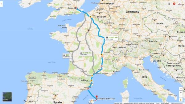 Map entire Trip