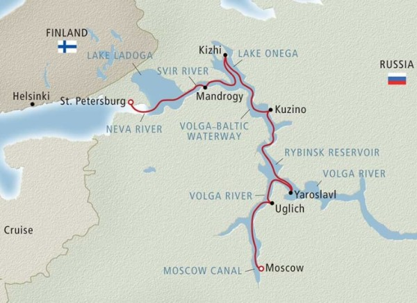 viking russia cruise map