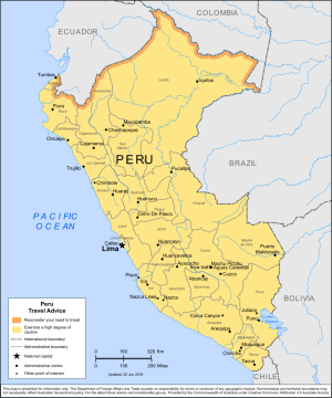 Peru Traveler Information - Travel Advice