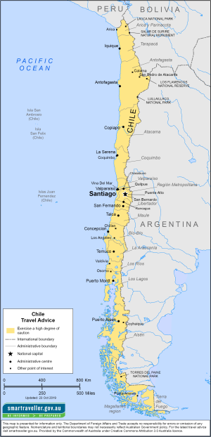 Chile Traveler Information - Travel Advice