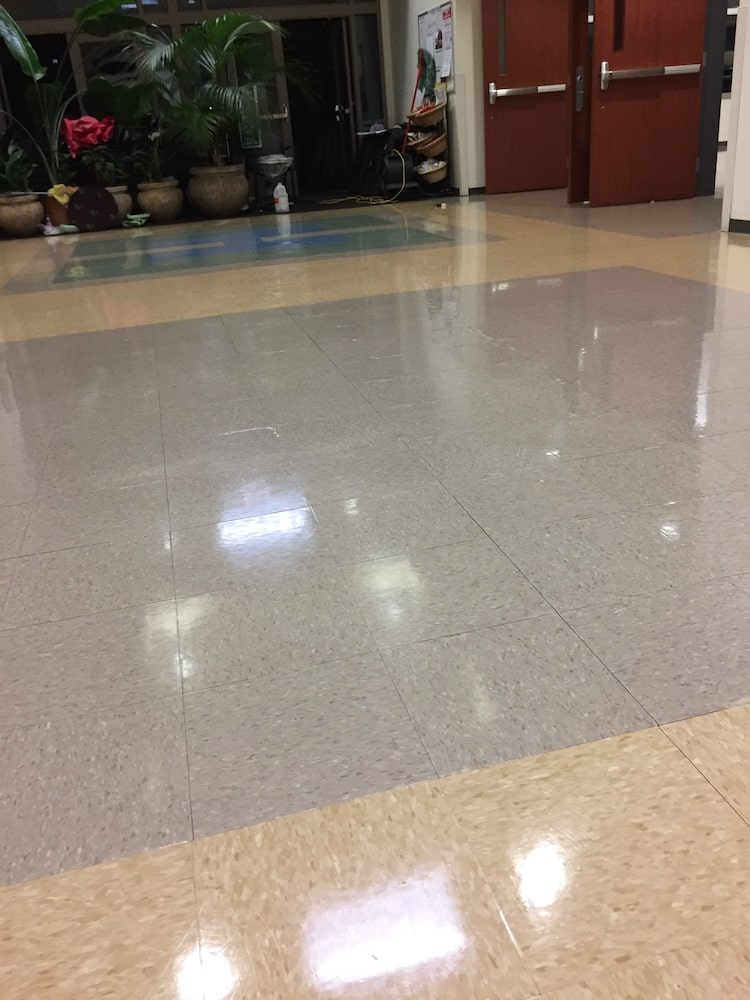 close up of clean floors.