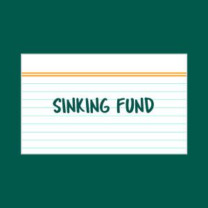 Sinking Fund index card