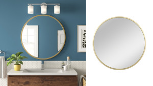 A rounded mirror